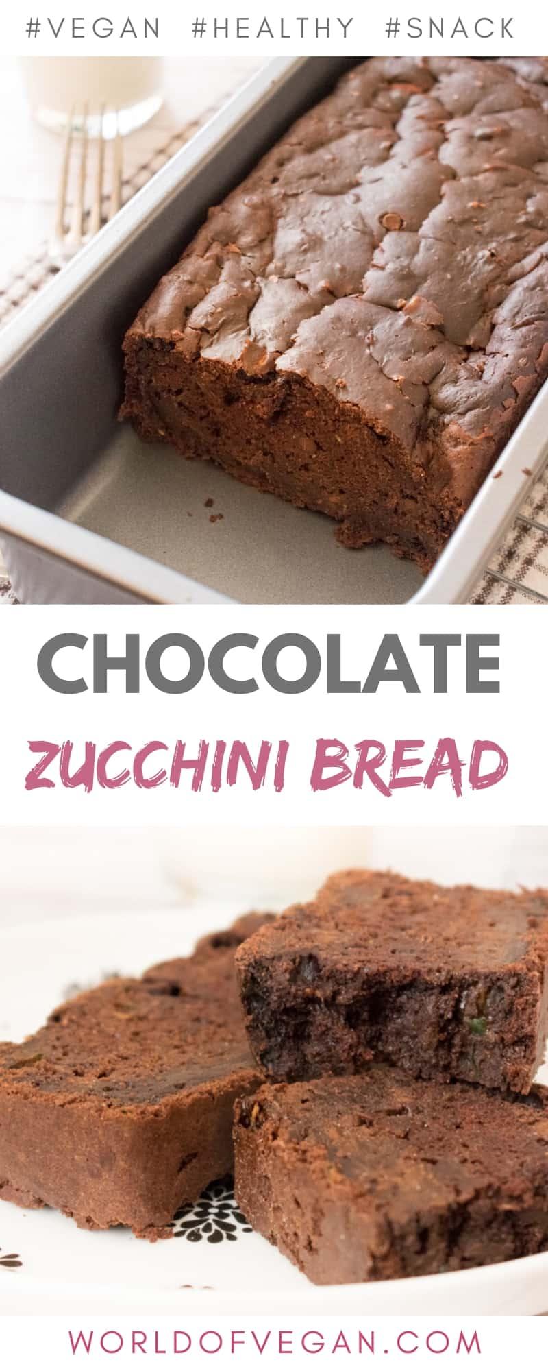Vegan Chocolate Zucchini Bread | Easy Breakfast Recipe | #zucchini #chocolate #bread #vegan #dessert #breakfast #recipe #worldofvegan