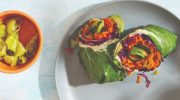 Rainbow Collard Wraps