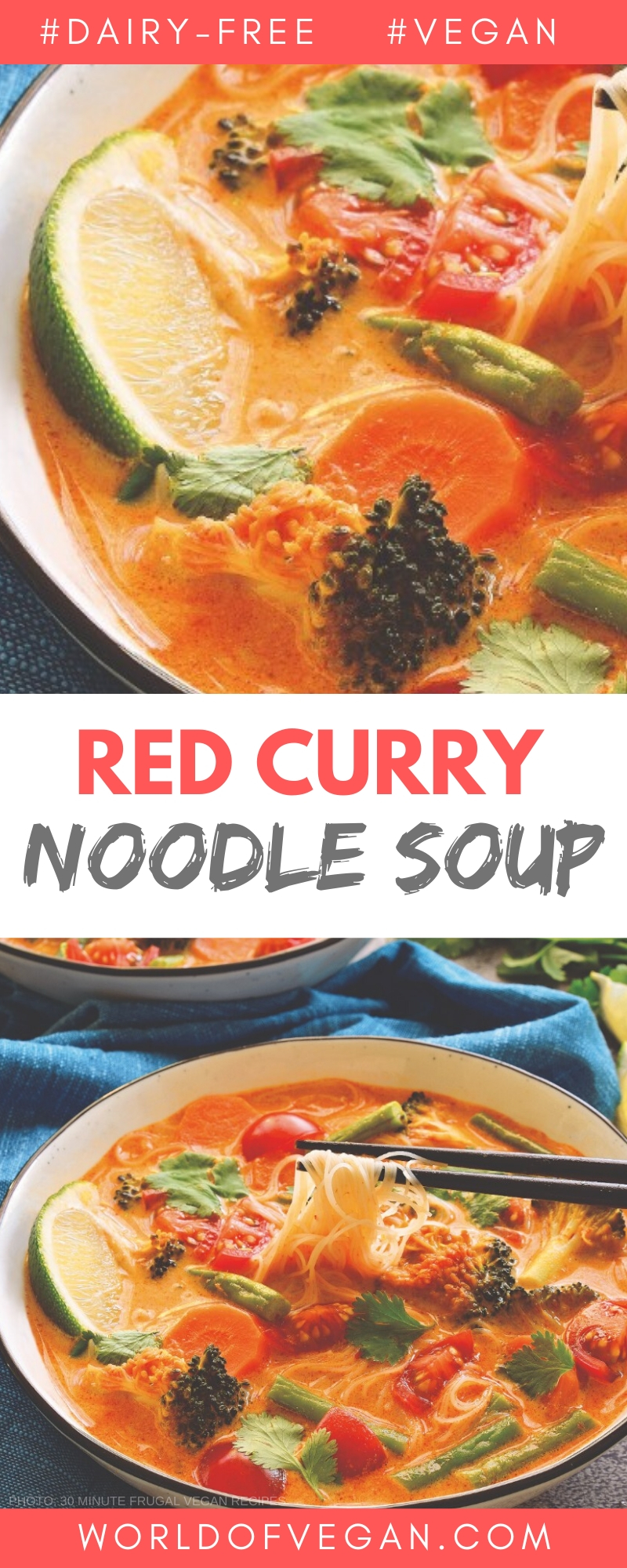 Spicy Red Curry Noodle Soup | World of Vegan | #curry #soup #red #noodles #spicy #indian #vegan #worldofvegan
