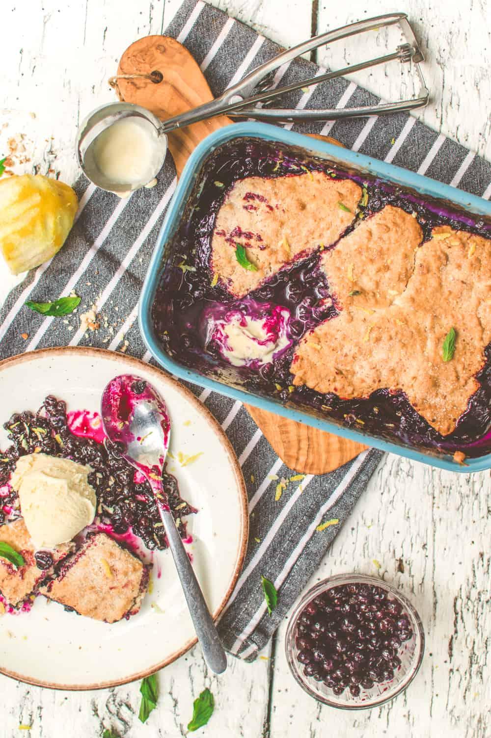 Vegan Blueberry Cobbler | Super-Easy Classic Dessert Recipe | #blueberries #cobbler #vegan #easy #dessert #worldofvegan