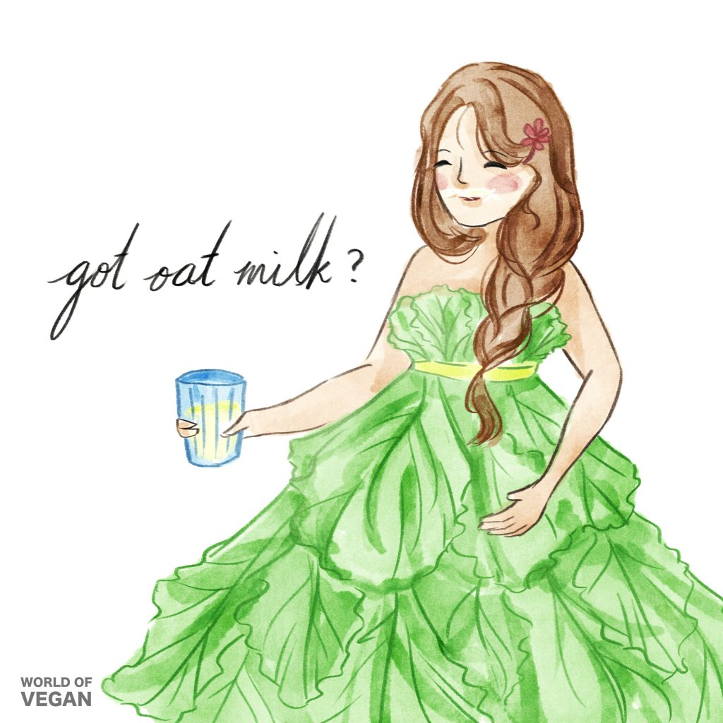 Got Oat Milk? World of Vegan Art Illustration