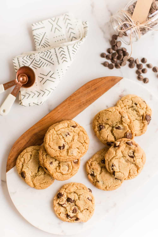 Chewy Vegan Chocolate Chip Cookies | WorldofVegan.com