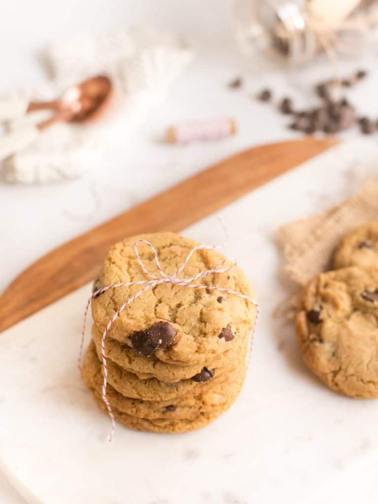 Perfect Vegan Chocolate Chip Cookies | WorldofVegan.com #vegan #holiday #cookies