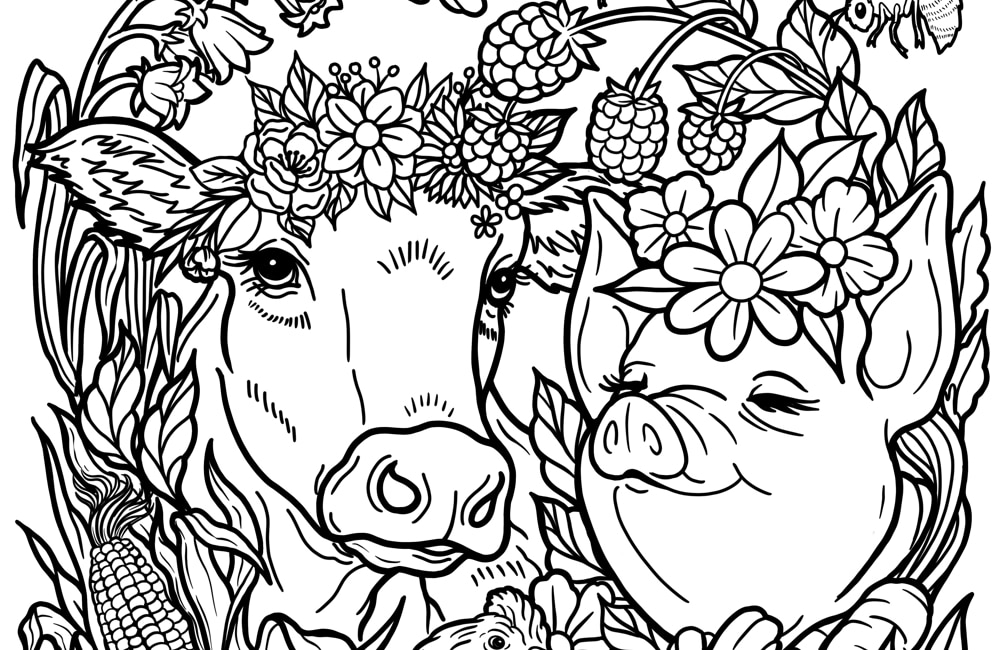 Printable Vegan Coloring Page A Mindfulness Activity For Kids