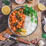 Vegan Chickpea Stew | World of Vegan | #stew #chickpea #vegan #rice #bowl #dinner #worldofvegan