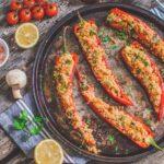 Vegan Couscous Stuffed Peppers | WorldofVegan.com | #couscous #peppers #stuffed #vegan #lunch #easy #recipe #worldofvegan