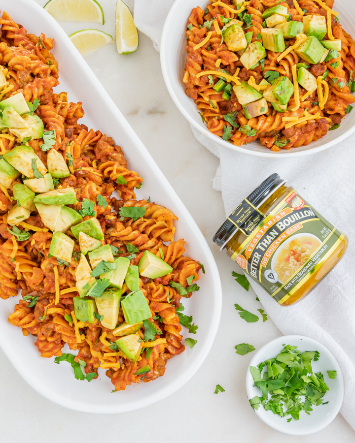 One-Pan Vegan Enchilada Pasta Dinner