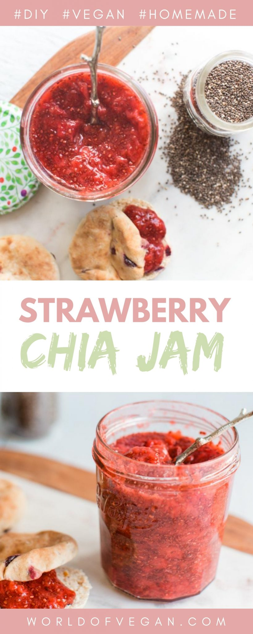 Homemade Strawberry Chia Jam | World of Vegan Recipe