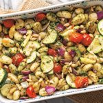 Pesto Roasted Gnocchi & Veggies Served