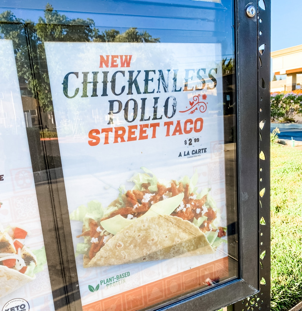 Vegan Chickenless Pollo Street Tacos at El Pollo Loco