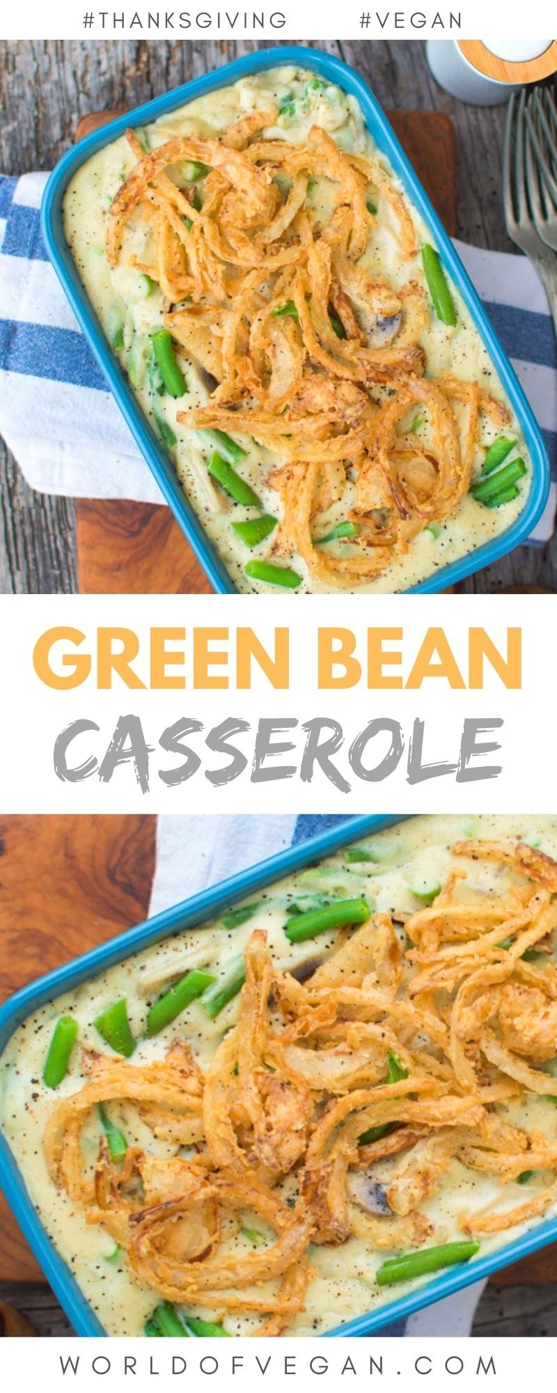 Vegan Green Bean Casserole Side Dish