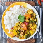 Yellow Curry Tofu with White Rice