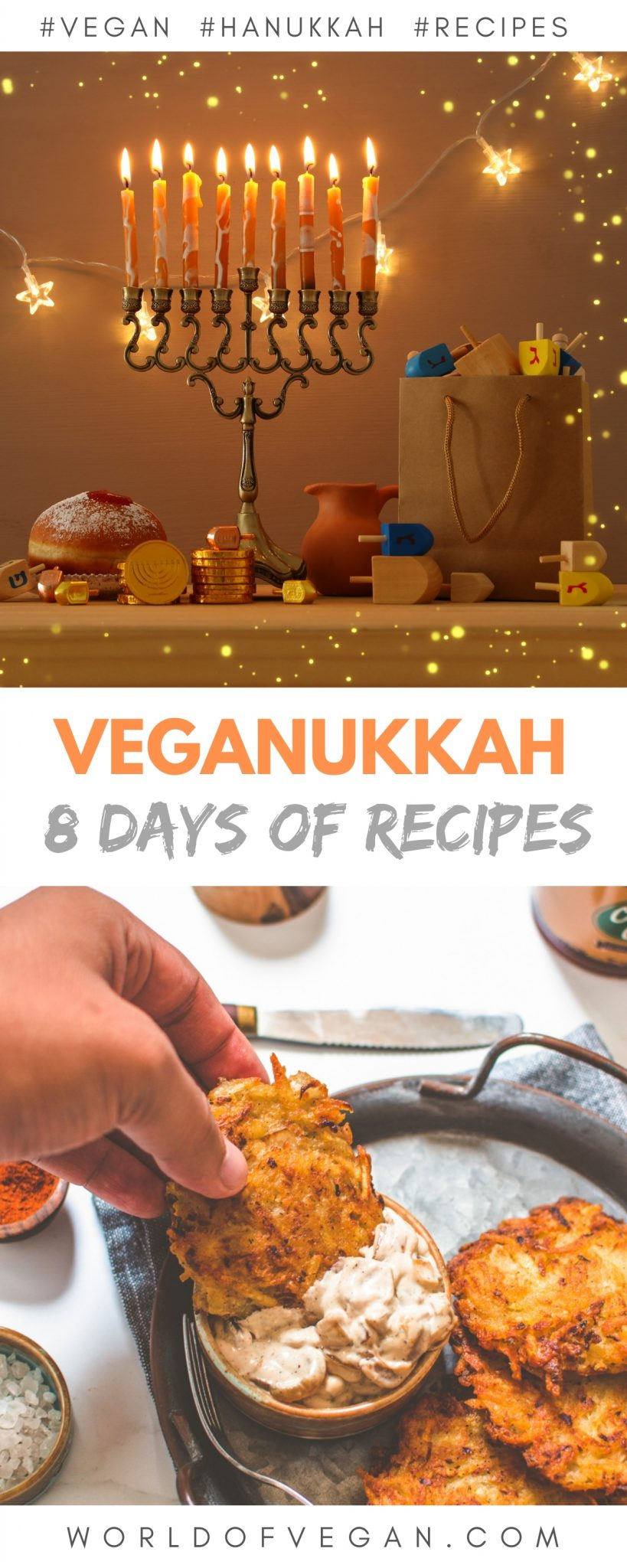 Vegan Hanukkah Recipes—One For Each Night