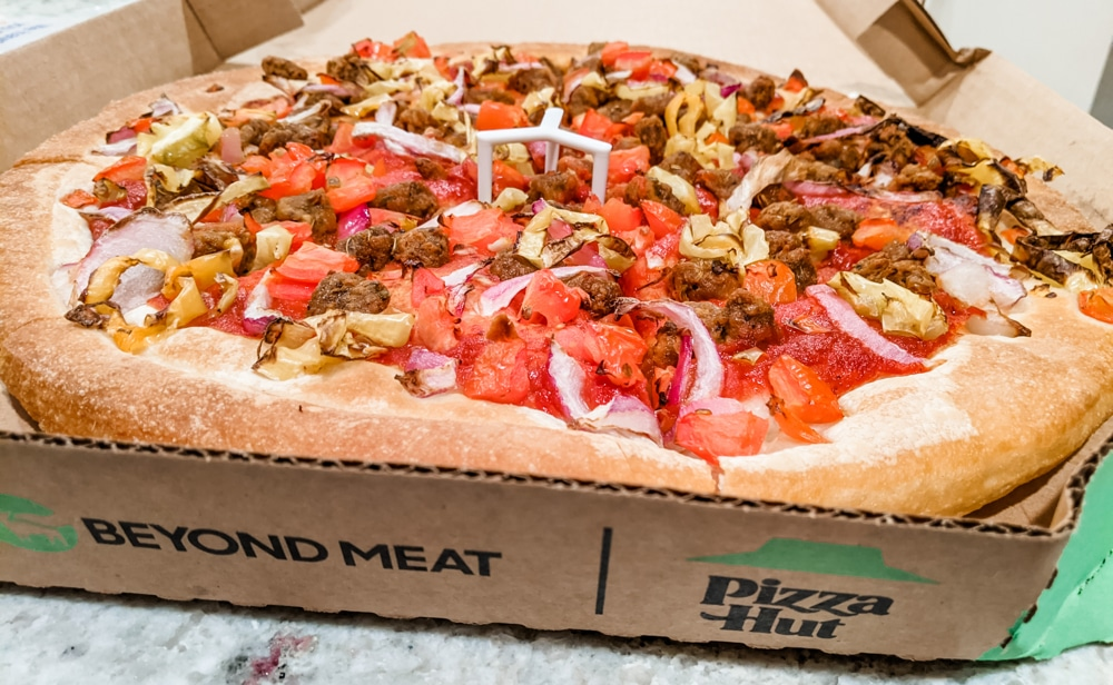 Pizza Hut's New Vegan Beyond Meat Pizza