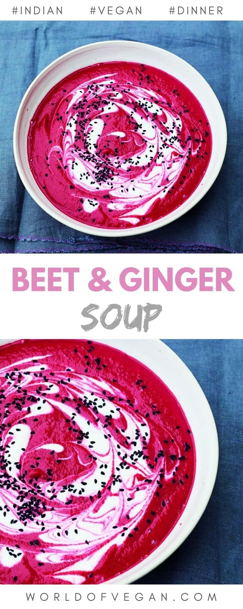 Vegan Beet and Ginger Soup