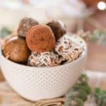 Date Walnut Truffles Selection in a Bowl