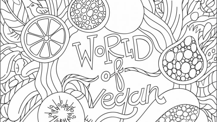 Free Printable Vegan Coloring Page for Kids & Adults
