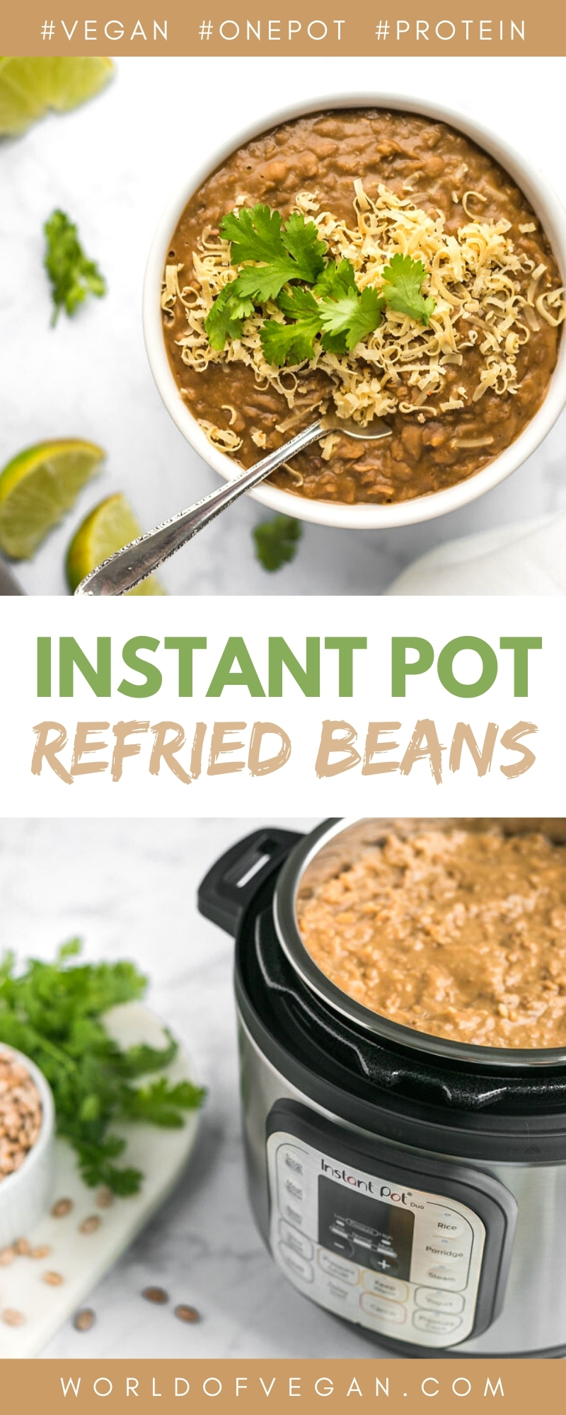 Easy Instant Pot Refried Beans Recipe