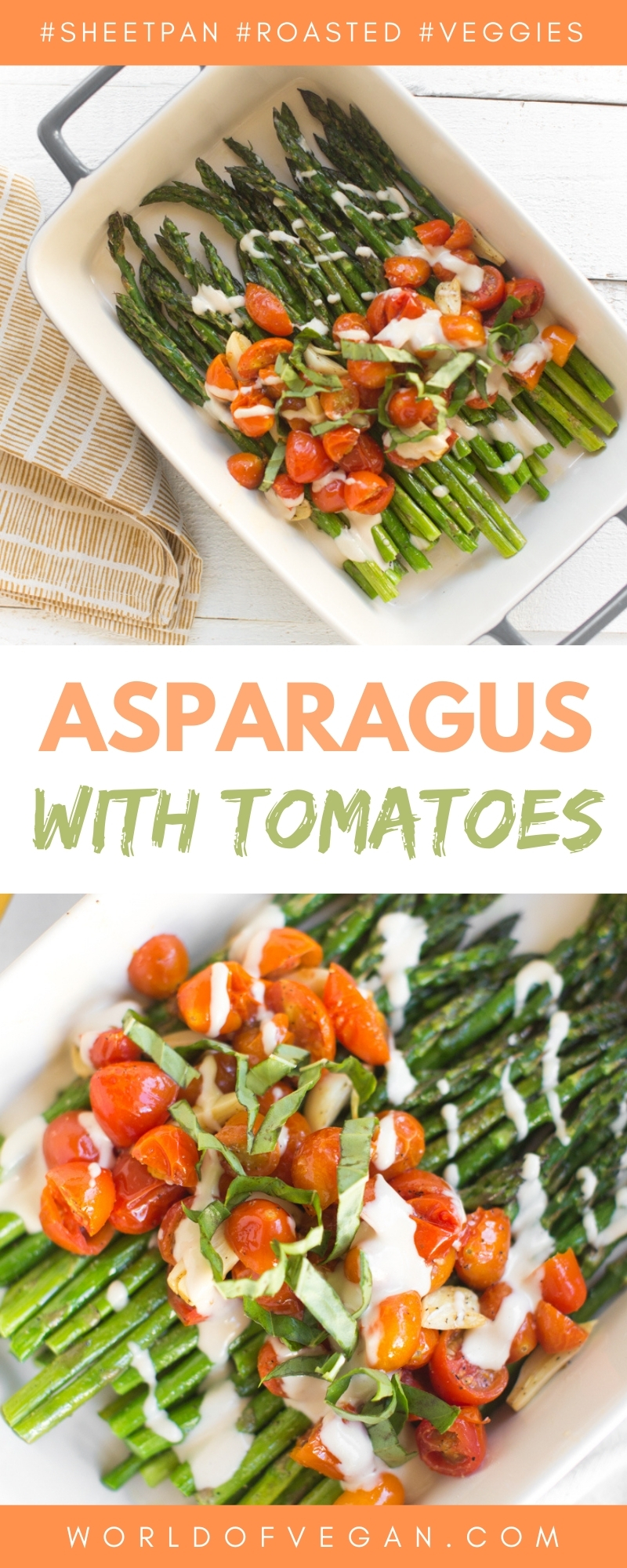 Vegan Roasted Garlic Asparagus With Tahini Drizzle