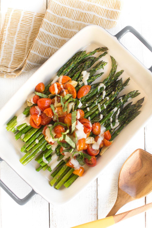 Vegan Spring Dinner Sheet Pan Roasted Asparagus