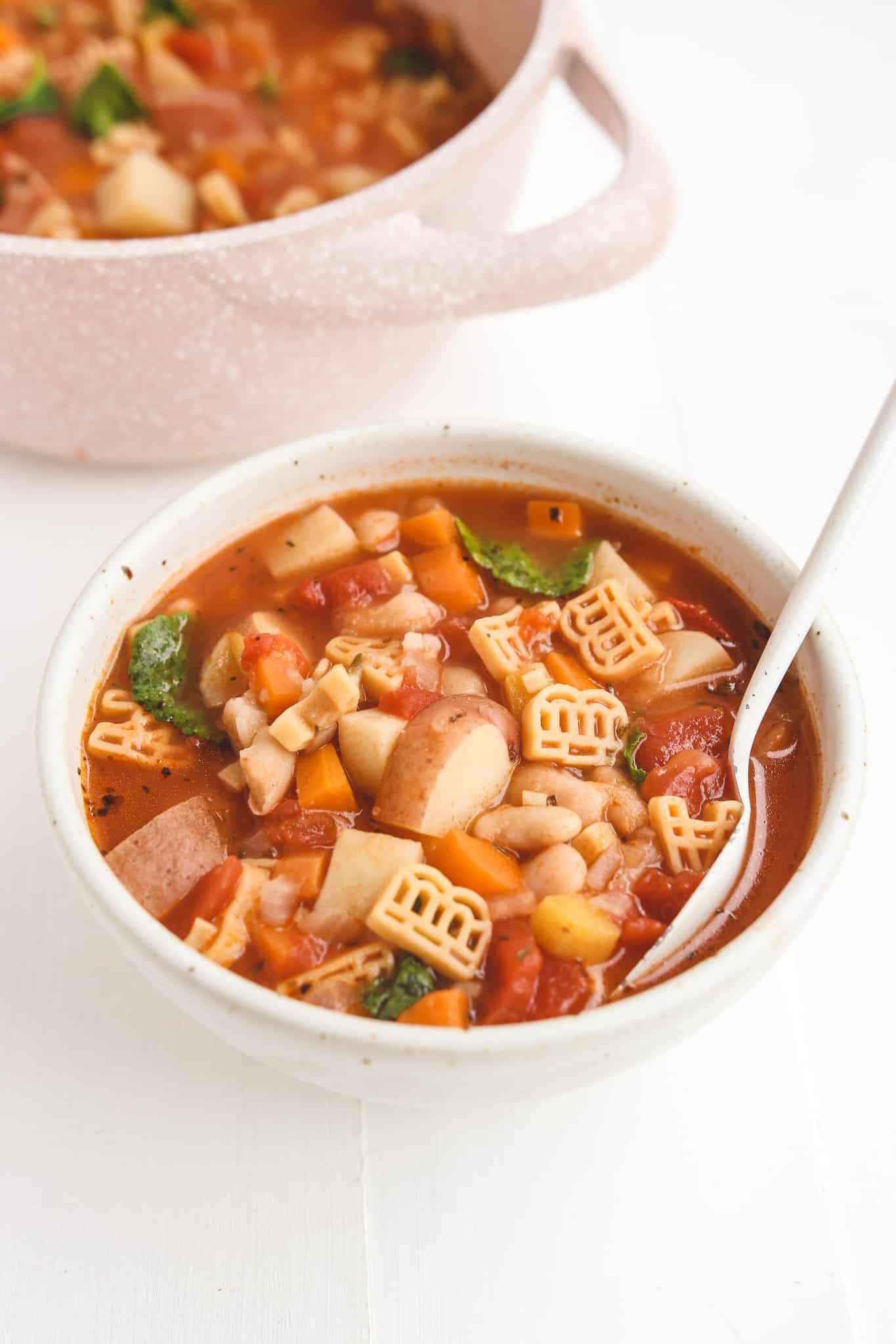 Vegan Instant Pot Minestrone Soup