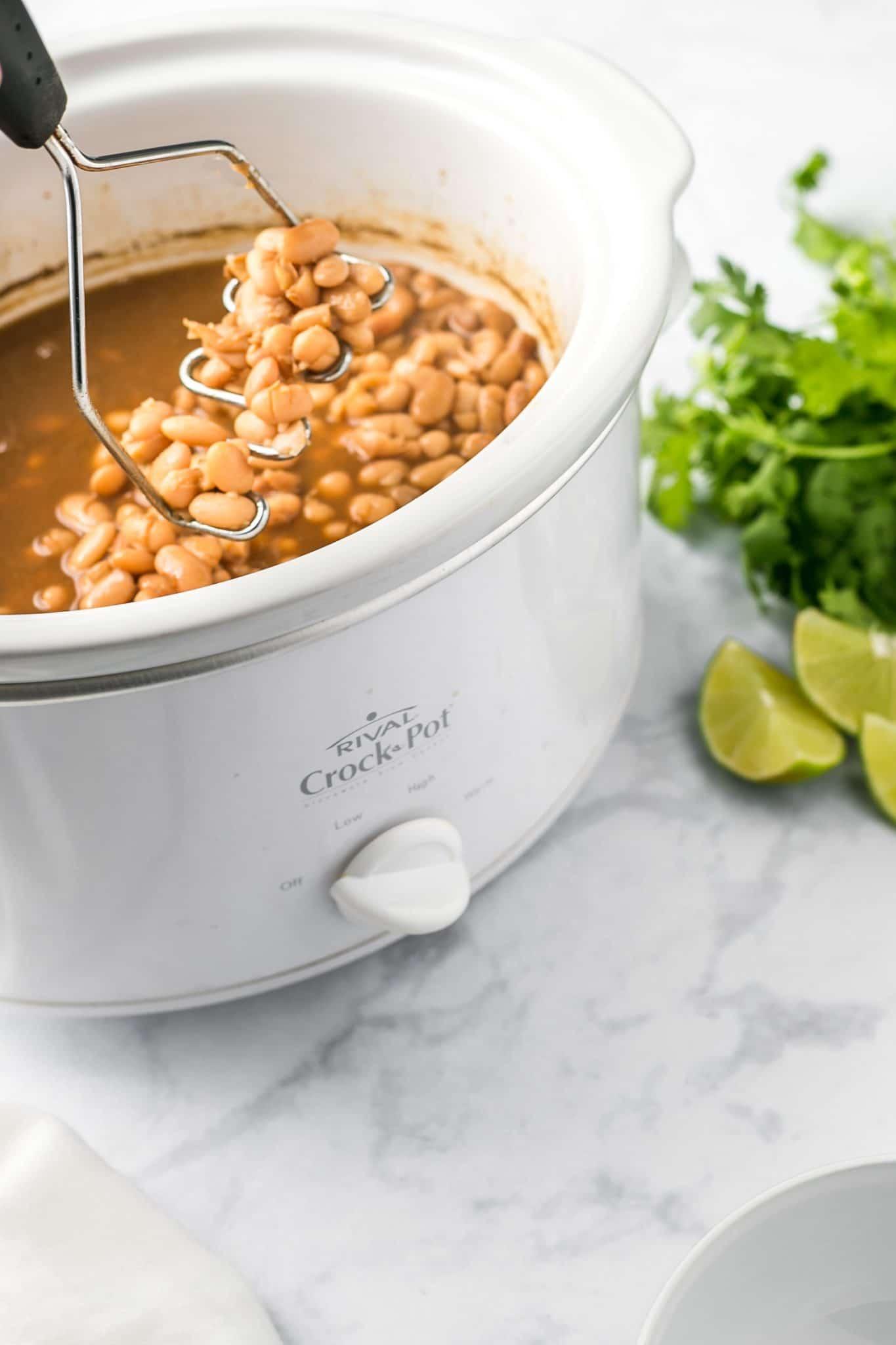 Crock Pot Vegan Refried Beans