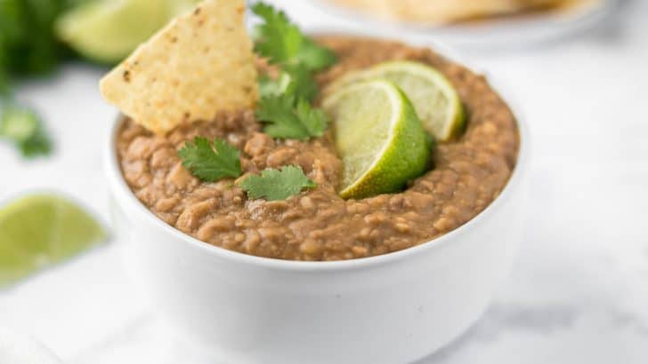Vegan Crock Pot Refried Beans