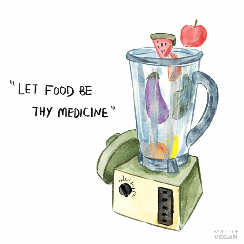 let food be thy medicine World of Vegan Art